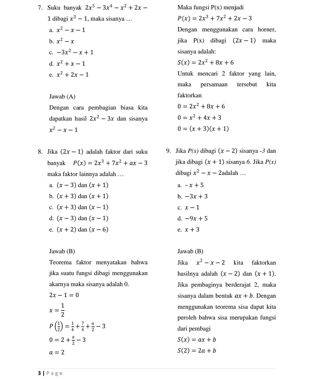 Soal Matematika Wajib Kelas 11 Semester 2 Dan Pembahasannya Kunci Dunia